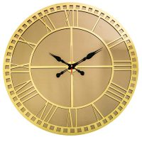 ساعت دیواری آینه ای طرح کلاسیک طلایی