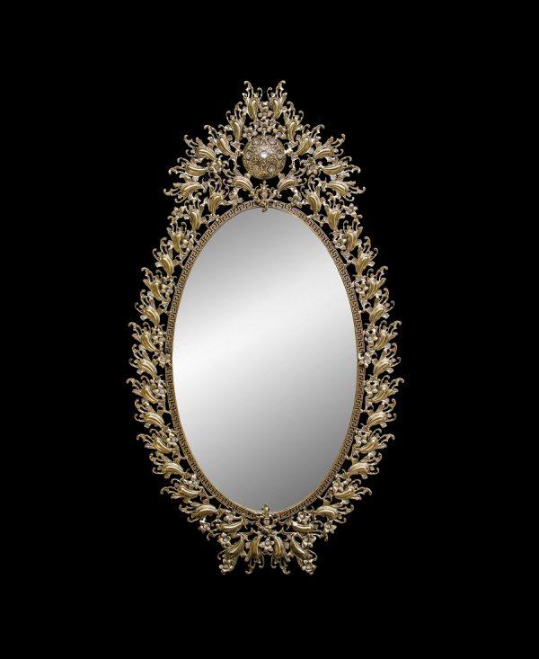 آینه برنزی مدل آبنوس بادمجانی