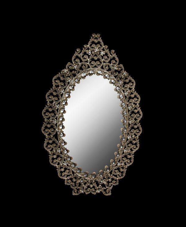 آینه برنزی مدل آبنوس طرح دو