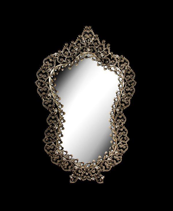 آینه برنزی مدل آبنوس