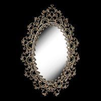 آینه برنزی مدل مانلی طرح بیضی