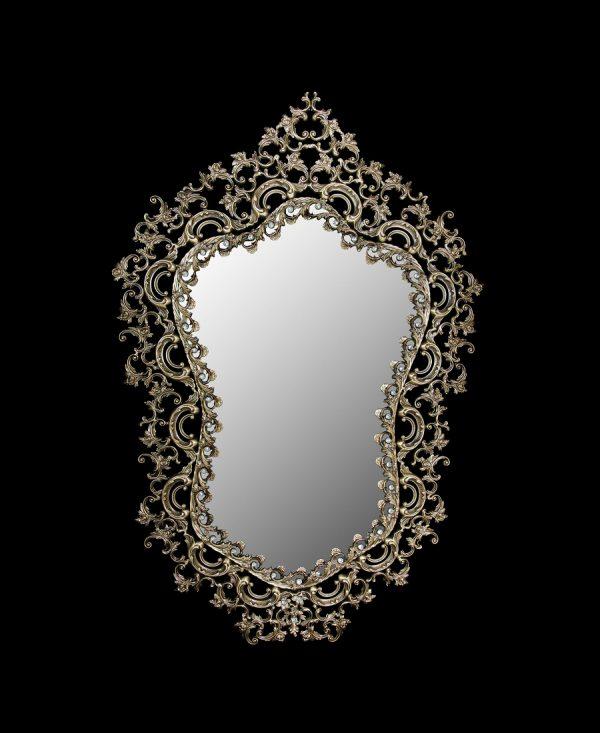 آینه برنزی مدل مانلی طرح لوتوس