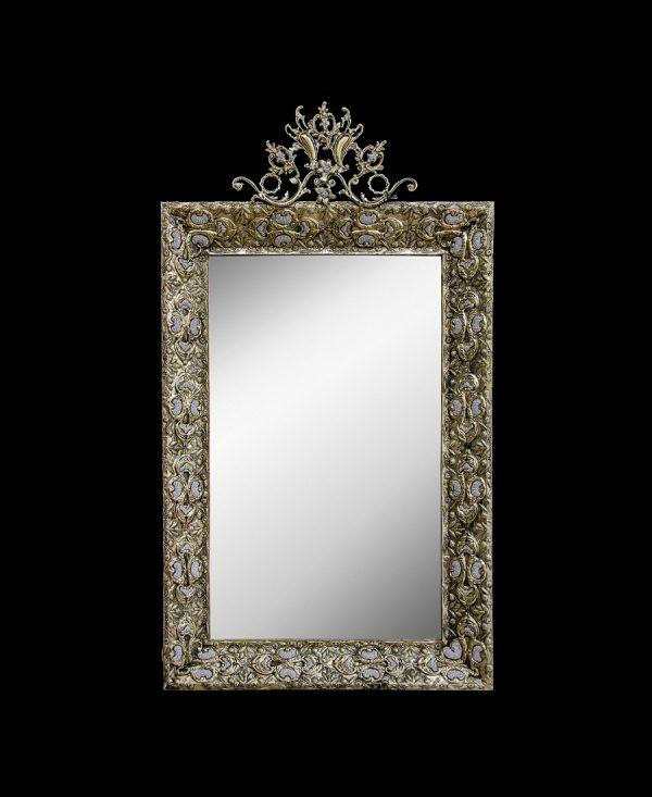 آینه برنزی مدل ورقی چهارگل
